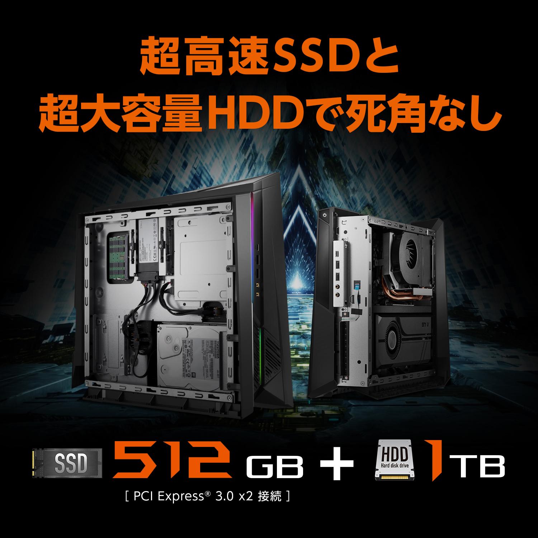 超高速SSDと超大容量HDDで死角なし